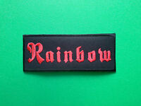 HEAVY METAL PUNK ROCK MUSIC FESTIVAL SEW ON / IRON ON PATCH:- RAINBOW (a)