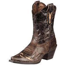 Ariat Western BOOTS Womens Dahlia Cowboy Floral 8 C Brown 10008780