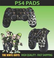 PS4 Playstation 4 Joystick Tappetino Adesivo Teschio Muro Dark Gotico Ossa Skin