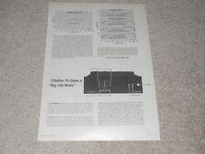 HK Citation 19 Rare Review, 2 pg, 1978, Specs, Info