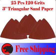"""Pack 25 Sandpaper Oscillating Multi Tool 3"""" Sand Paper For Ryobi Jobmax Fein"""