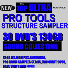 30 DVD'S 130GB PRO TOOLS STRUCTURE LE HD 7 8 9 10 SAMPLER TOP SAMPLES COLLECTION