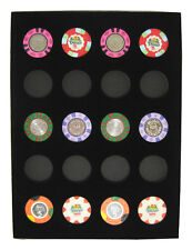 Chip Insert 20 Casino Chips Display Board 9 x 12 HOLDS 20 CHIPS Free Shipping  *