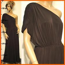 Plus Size L XL 2X NEW Black Full-Length One Shoulder Evening Cocktail Maxi Dress