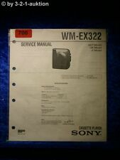 Sony Service Manual WM EX322 Cassette Player (#0700)