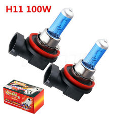 H11 12V 100W Xenon White 6000k Halogen Blue Car Head Light Lamp Globes Bulbs HID