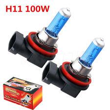 H11 Xenon White 6000k Halogen Blue Car Head Light Lamp Globes Bulbs HID 12V 100W