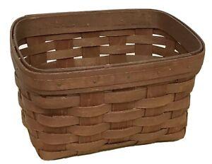 Longaberger Rich Brown Recipe Basket 2010