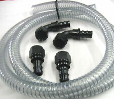 12AN Vacuum Pump Hose & Black Fitting Kit, Drag Race Street Nascar Marine