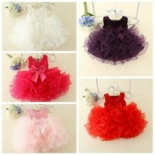 Kid Baby Girls Party Tutu Dress Wedding Pageant Communion Princess Floral Dress