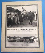 *ENTREAT* 1950 HORSE RACE / RACING WINNER'S CIRCLE ORIGINAL PHOTO Pimlico