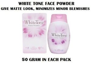 7 PACK OF WHITE TONE FACE POWDER GIVE MATTE LOOK AND MINIMIZES MINOR BLEMISHES