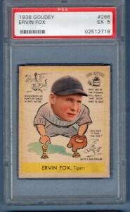 1938 Goudey #266 Ervin Fox (02512718) PSA 5