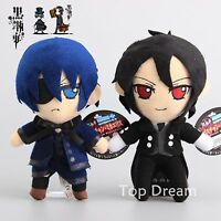 Kuroshitsuji Black Butler Sebastian Michaelis & Ciel Phantomhive Plush Toy Doll