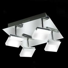 wofi LED Ceiling Light Lamp Bath Lamp Sonett 4-flg Chrome Adjustable 16 Watt