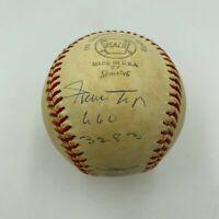 Willie Mays 660 HRs 3283 Hits Hank Aaron 755 HR 2371 Hits Signed Baseball JSA