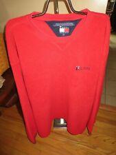 Men's Tommy Hilfiger Red Fleece Sweatshirt Size XL Good Condition