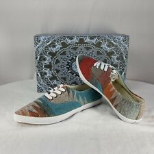 Extra Fine Sugar Womens Shoe Flat Pointed Toe Size 8 Wide Aztec Design