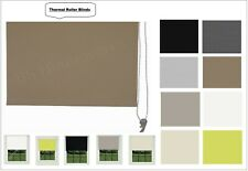 Thermal 100% Blackout Roller Blinds Plain Colored UV-resistant Fabric Trimmable