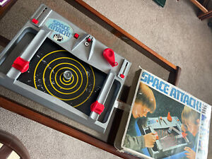 Vintage Retro Space Attack Board Game  1980's By Action GT Boxed