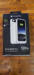 NEW WHITE MOPHIE JUICE PACK PLUS EXTERNAL BATTERY CASE FOR APPLE IPHONE 6 & 6s