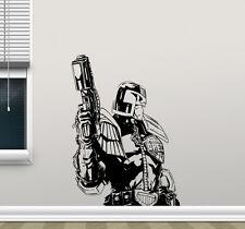Judge Dredd Wall Decal Movie Superhero Vinyl Sticker Home Kids Art Poster 235hor