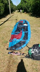 Needs bladder repair Eclipse Thruster 12m & bar Kiteboarding kite surfing kite