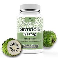 Graviola kapseln 1500mg pro Tagesdosis | 90 Kapseln |81% Fruchtextrakt | Vegan