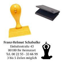 Adressenstempel « YOGA » mit Kissen - Firmenstempel - Reiki Yoga Meditation