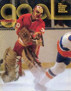 Jan. 16, 1977 - Pittsburgh Penguins vs. Atlanta Flames Game Program Dan Bouchard