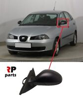 FOR SEAT IBIZA, CORDOBA 2002 - 2008 NEW WING MIRROR MANUAL BLACK LEFT N/S LHD