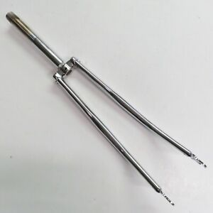 1 inch Road Fork 27 inch Wheel NOS Chrome 200 mm / 7 7/8 inch Steerer Can Be Cut
