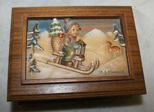 """Vintage Hummel Four Seasons Series """"Ride Into Xmas"""" Ltd Ed Music Box #06540"""