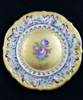 Italian Capodimonte Hand Painted Plate 18-19th Century Signed Between 1771-1834*