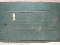 FOXBORO Antique Wooden Dovetailed Advertising Box industrial instruments Mass