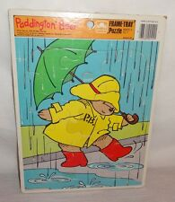 Paddington Bear Rain Umbrella  Frame Tray Puzzle 1989 Golden 12 pc.  U.S.A.