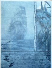 Rice Paper Sailing Ship for Decoupage Scrapbook Crafting Sheet 103