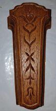 Brown Plastic Faux Wood Syroco Inc. Homco Wall Pocket  918