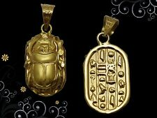 Fascinating Egyptian Hallmark 18 K. Gold pendant ancient Egypt Pharao's Scarab