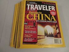 Lot of 8 National Geographic's Traveler Magazines Jan-Dec 2007 VG