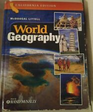 McDougal Littell World Geography 10th grade 10 homeschool ATLAS RAND MCNALLY ACC