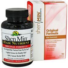 Natrol Shen Min Hair Nutrient NIB 90 Tablets Hair Regrowth 100% Natural