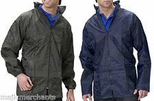 Waterproof Jacket Rain Coat Mens Womens Adults Ladies Walking Fishing Packaway