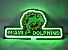 """Miami Dolphins 3D Neon Sign Beer Gift 14""""x7"""" Light Lamp Artwork"""