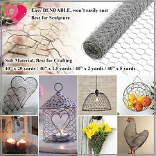 Galvanized Poultry Net Metal Mesh Fencing Chicken Wire Rustic Silver 40