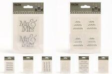 Wedding Stickers - Diamante Rhinestone Pearl Self Adhesive Words Embellishments