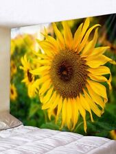Sunflower Flower Tapestry Wall Hanging Living Arts Tapestries DIY Decoration