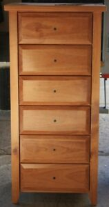 Chest of Drawers, Manilla,Slimboy, 6 Drw,STAINED