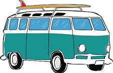 Camper Van Motorhome camping-car Autocollant Decal étiquette en vinyle graphique V1