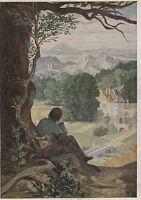 Ansichtskarte - Moritz von Schwind / Auf der Wanderschaft